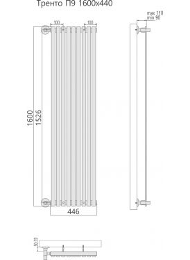 Полотенцесушитель Тренто П9 446x1600